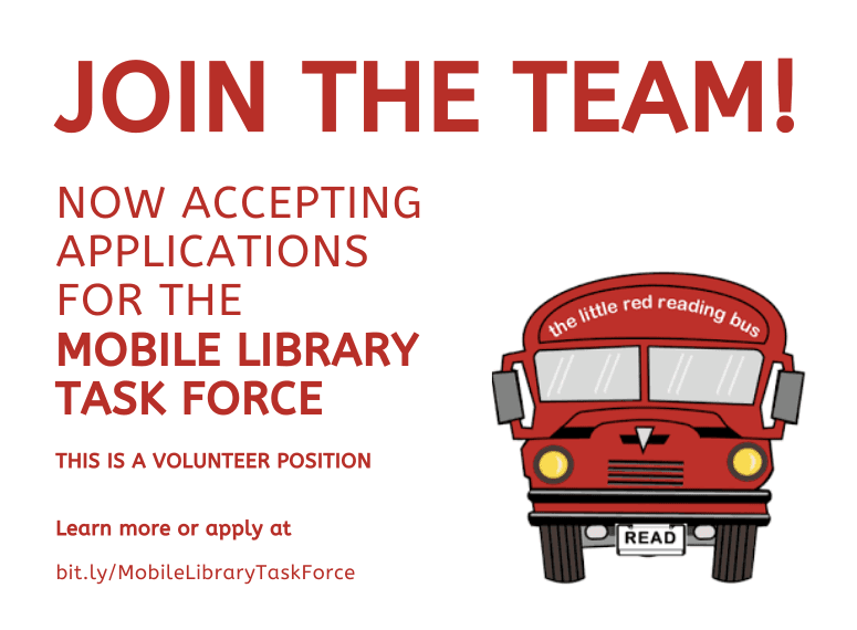 Mobile Library Task Force Application Graphic